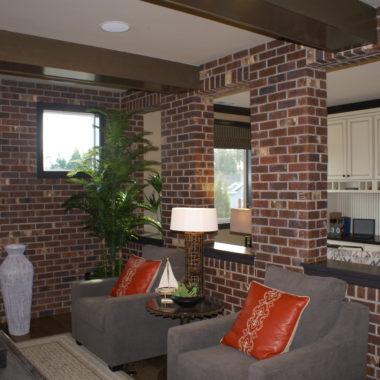 Brick on the interior